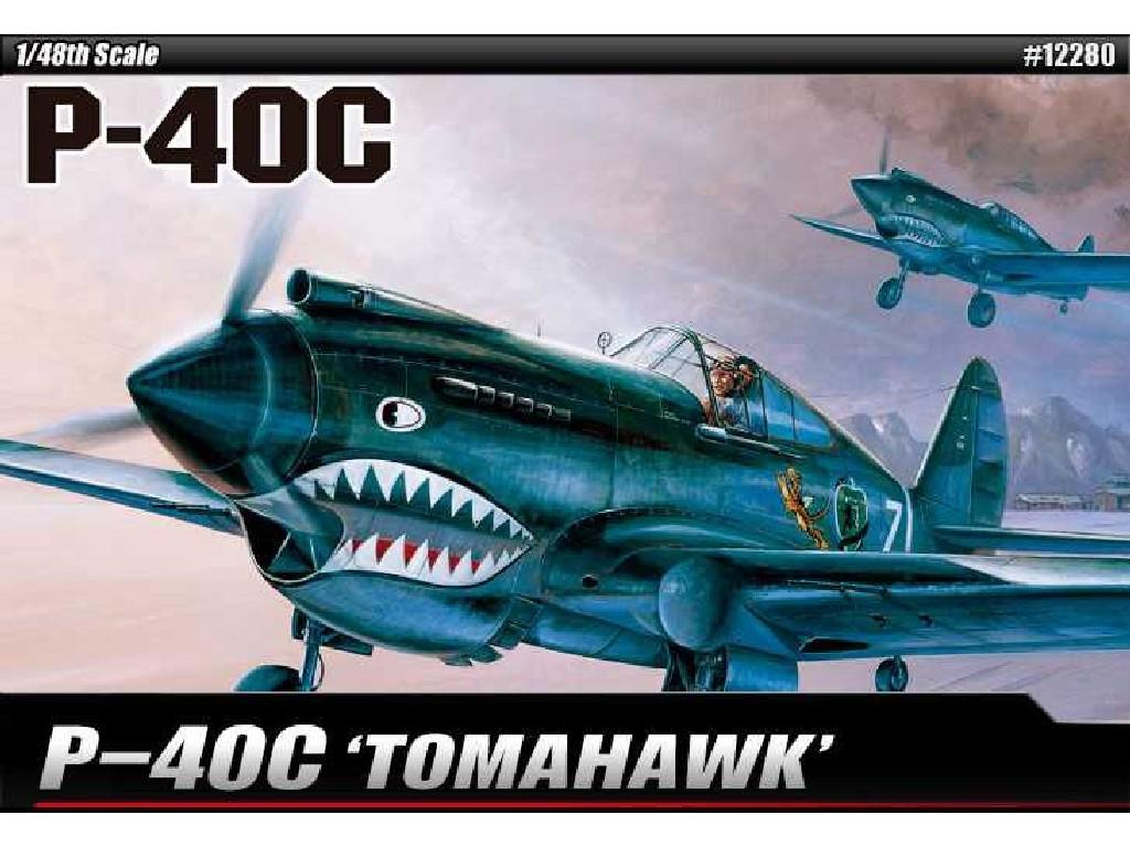 1/48 Plastikový model - letadlo 12280 - P-40C