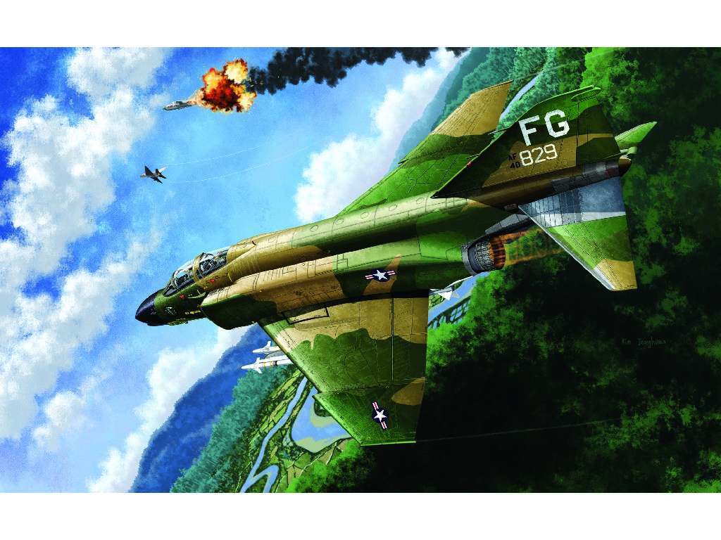 1/48 Plastikový model - letadlo 12294 - USAF F-4C VIETNAMESE WAR