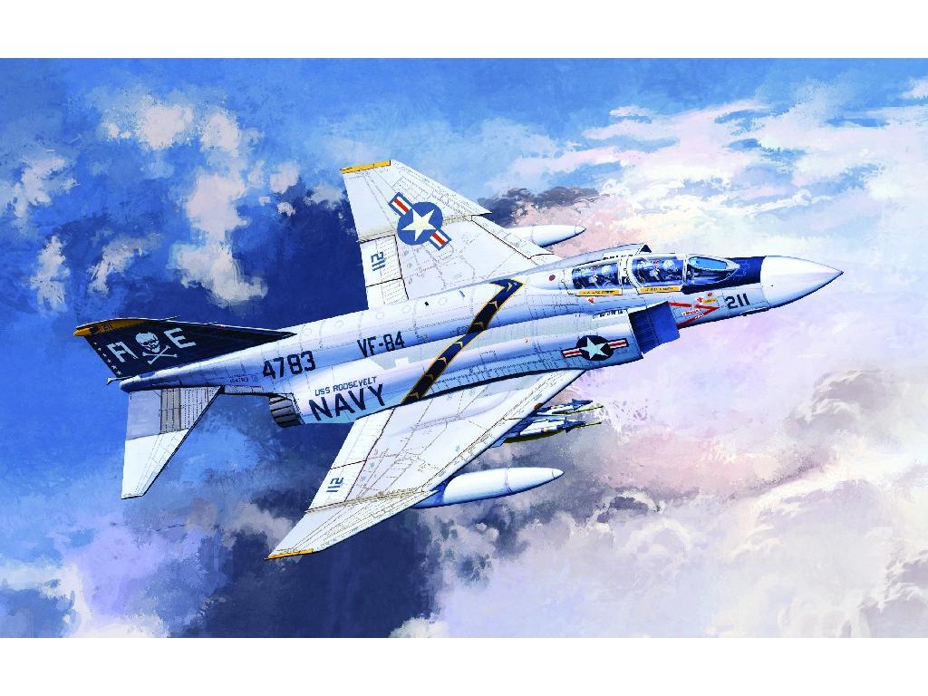 1/48 Plastikový model - letadlo 12305 - F-4J VF-84 JOLLY ROGERS