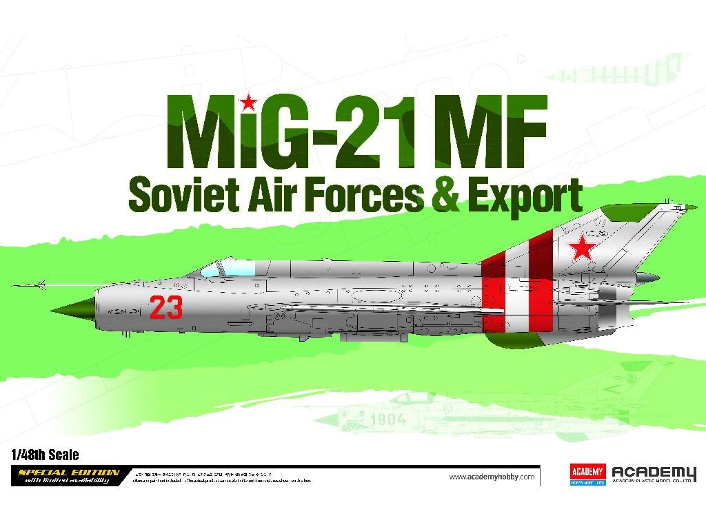 1/48 Plastikový model - letadlo 12311 - Mig-21 MF Soviet Air Force and Export LE: