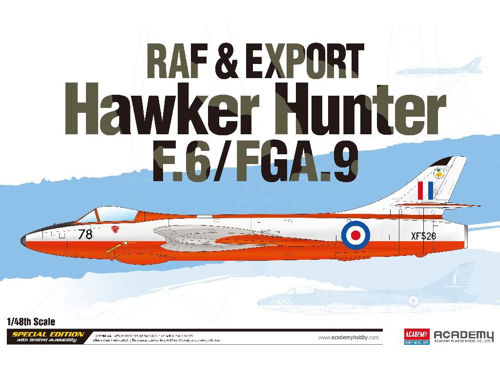 1/48 Plastikový model - letadlo 12312 - RAF and Export Hawker Hunter F.6/FGA.9