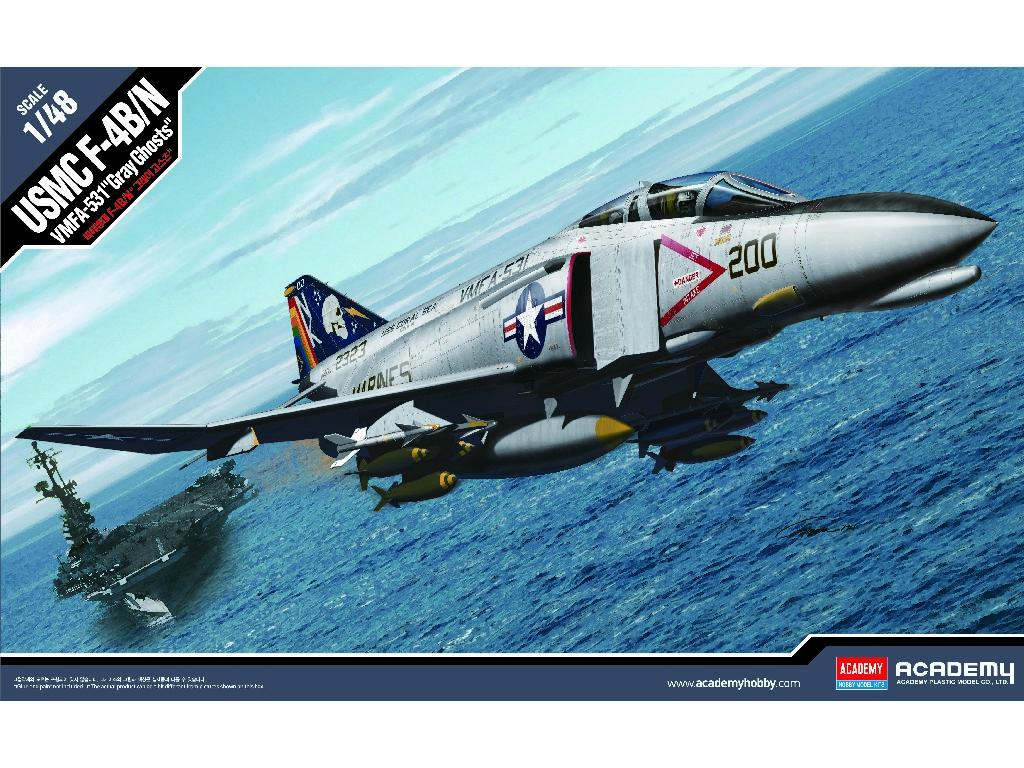 1/48 Plastikový model - letadlo 12315 - USMC F-4B/N VMFA-531 GRAY GHOSTS