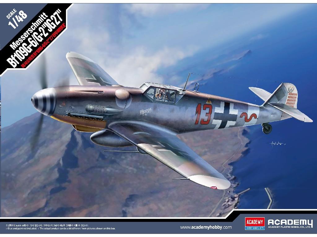 1/48 Plastikový model - letadlo 12321 - Messerschmitt Bf109G-6/G-2 JG 27
