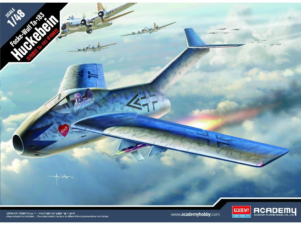 1/48 Plastikový model - letadlo 12327 - Focke-Wulf Ta-183 ?Huckebein?