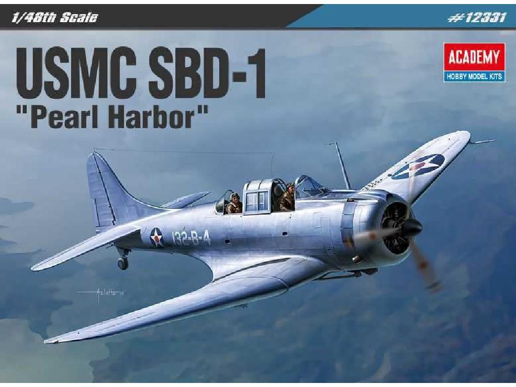 1/48 Plastikový model - letadlo 12331 - USMC SBD-1 Pearl Harbor