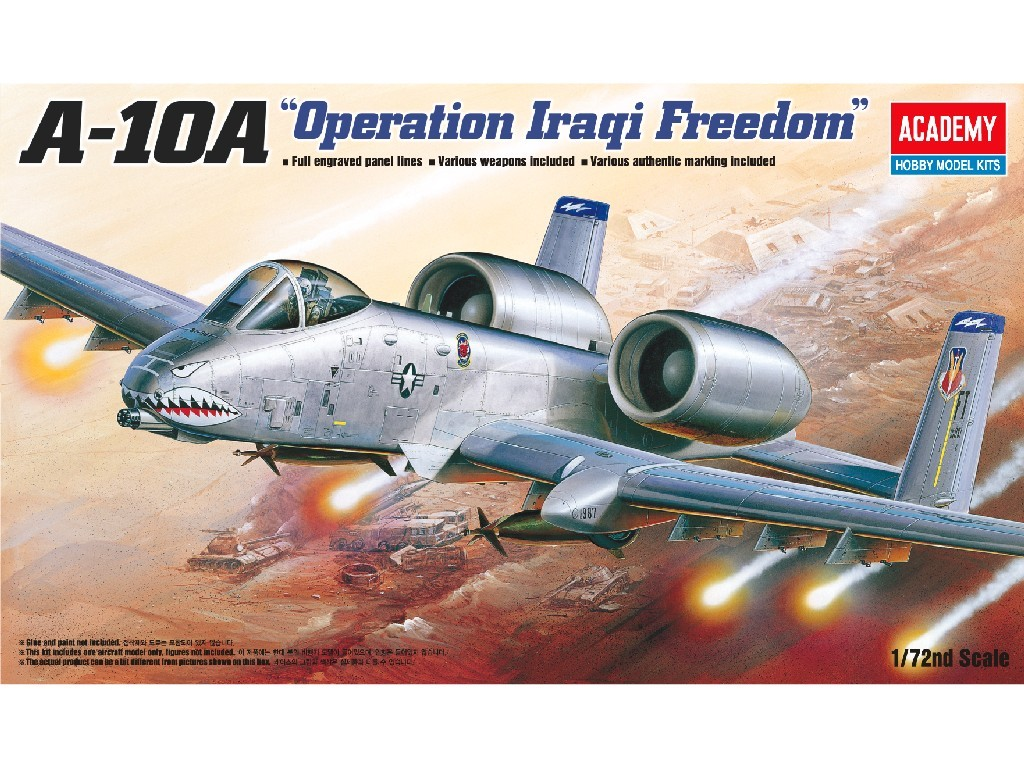 1/72 Plastikový model - lietadlo 12402 - A-10A OPERATION IRAQI FREECOM