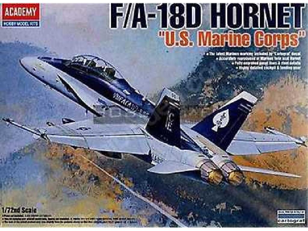 1/72 Plastikový model - letadlo 12422 - F/A 18D HORNET US MARINES