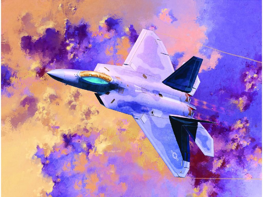 1/72 Plastikový model - letadlo 12423 - F-22A AIR DOMINANCE FIGHTER