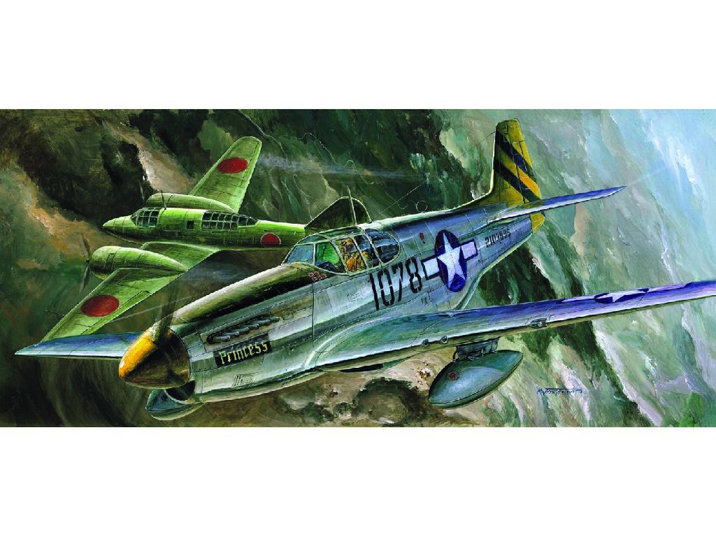 1/72 Plastikový model - letadlo 12441 - P-51C