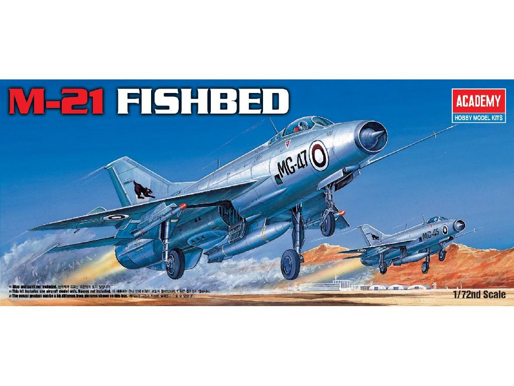 1/72 Plastikový model - letadlo 12442 - M-21 FISHBED