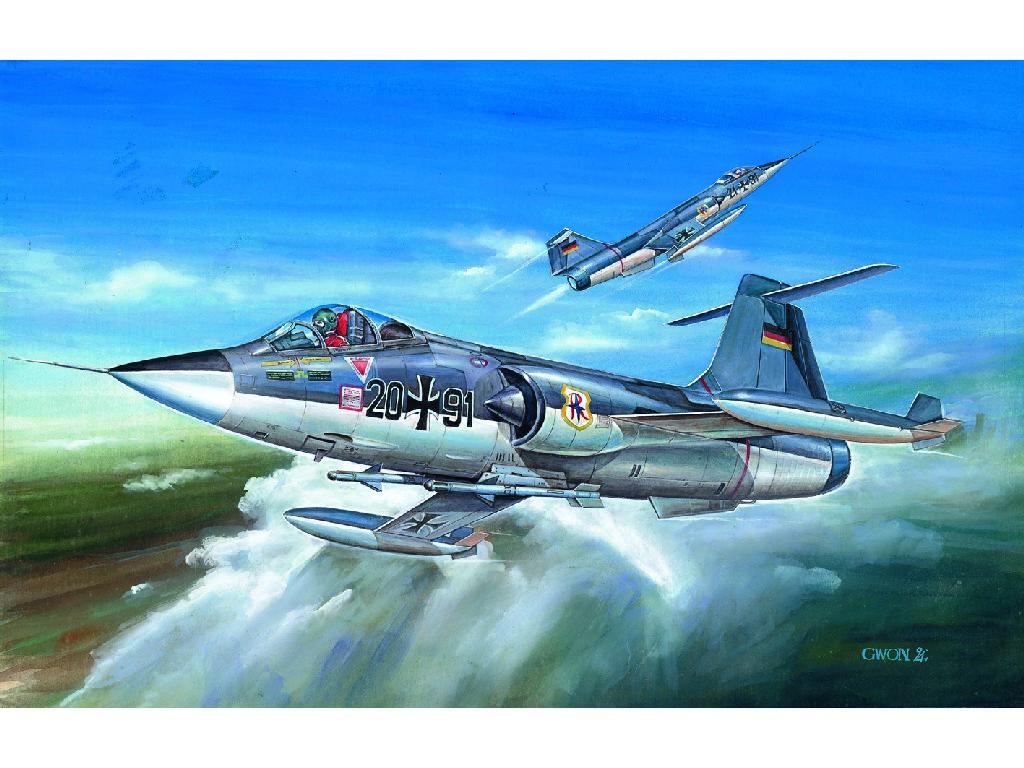 1/72 Plastikový model - letadlo 12443 - F-104G