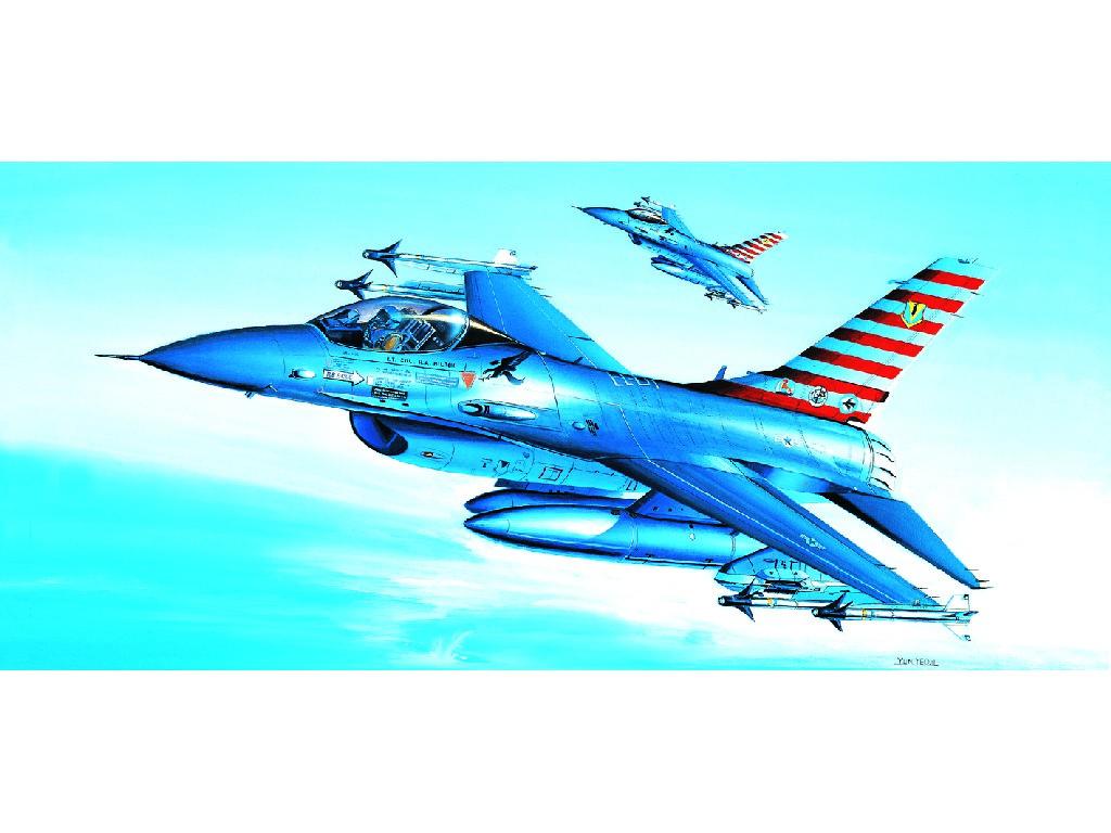 1/72 Plastikový model - lietadlo 12444 - F-16A