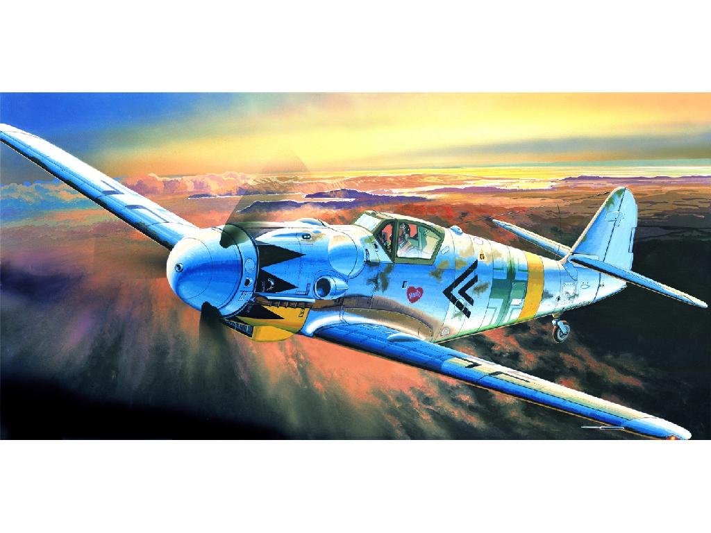 1/72 Plastikový model - letadlo 12454 - MESSERSCHMITT BF109G-14