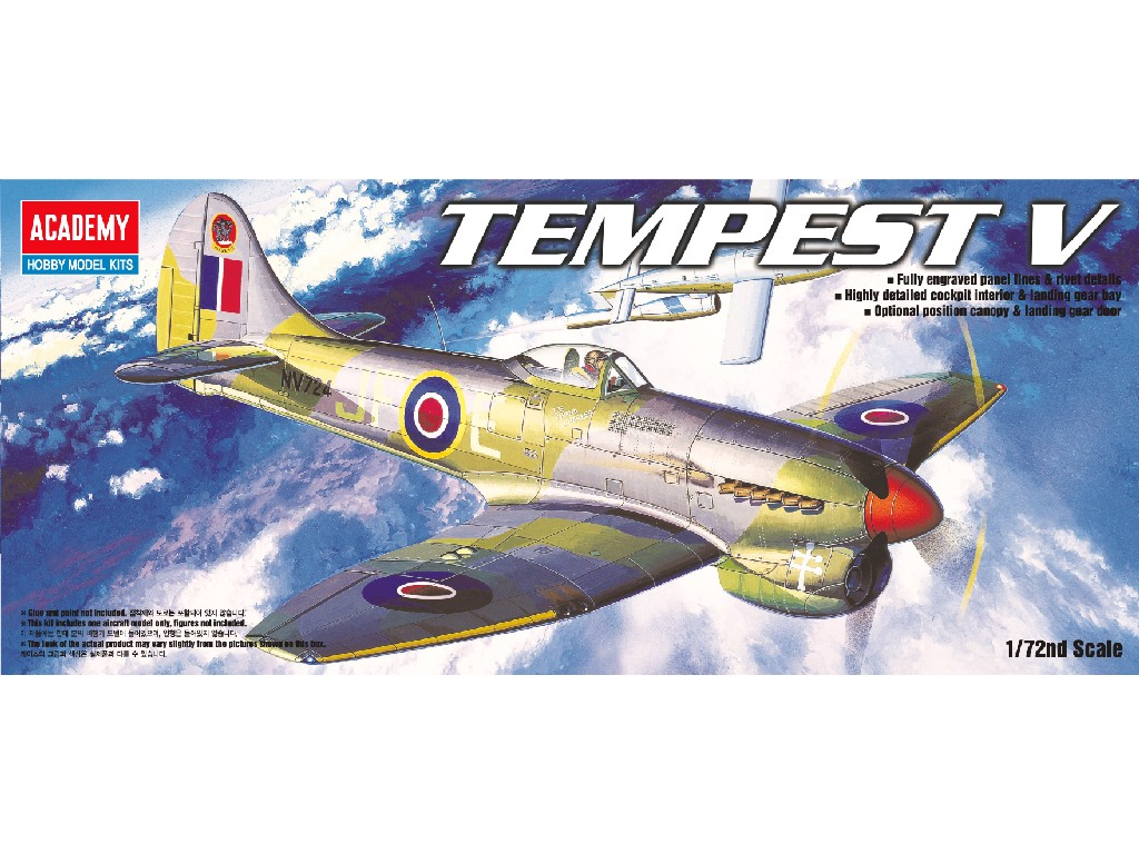 1/72 Plastikový model - lietadlo 12466 - TEMPEST V