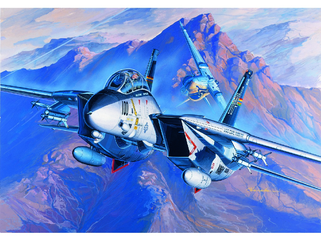 1/72 Plastikový model - letadlo 12471 - F-14A