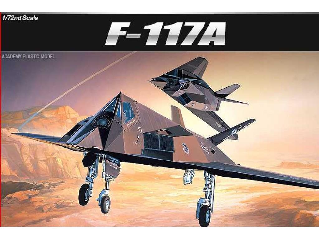 1/72 Plastikový model - letadlo 12475 - F-117A STEALTH FIGHTER/BOMBER