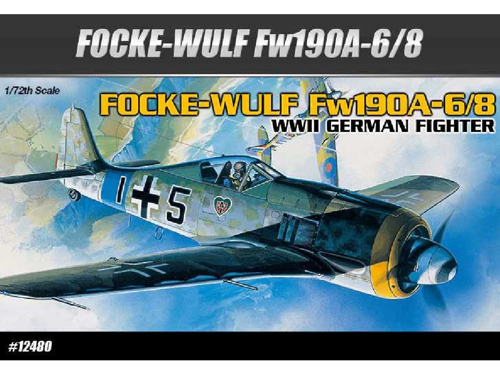 1/72 Plastikový model - letadlo 12480 - FOCKE-WULF FW190A-6/8