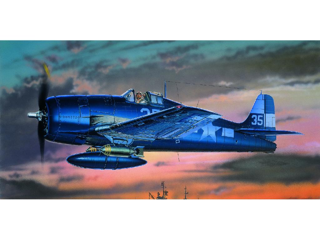 1/72 Plastikový model - lietadlo 12481 - F6F-3/5