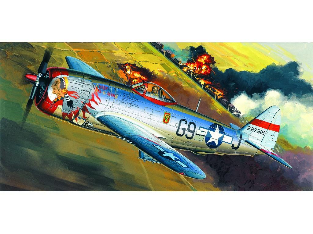 1/72 Plastikový model - letadlo 12491 - P-47D BUBBLE-TOP