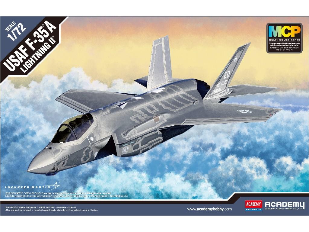 1/72 Plastikový model - letadlo 12507 - F-35A Lightning II MCP