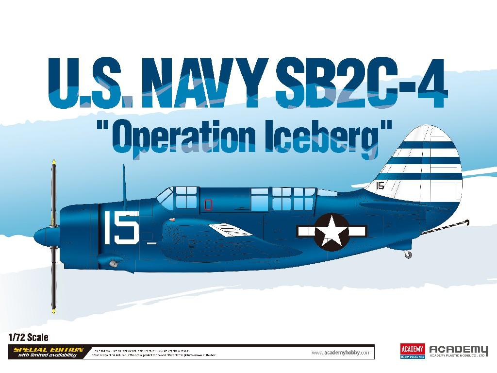 1/72 Plastikový model - letadlo 12545 - U.S.Navy SB2C-4 Operation Iceberg LE: