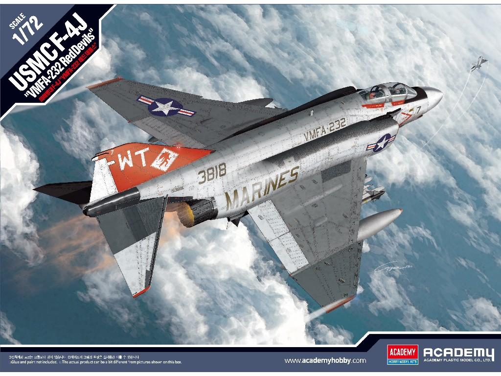 1/72 Plastikový model - letadlo 12556 - USMC F-4J VMFA-232 Red Devils
