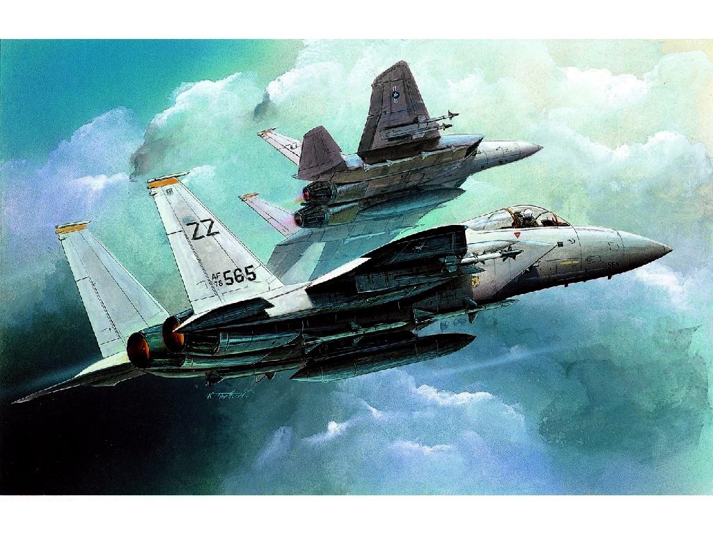 1/144 Plastikový model - lietadlo 12609 - F-15C