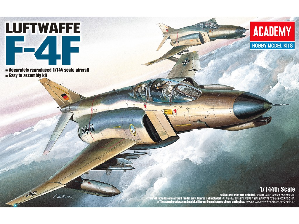 1/144 Plastikový model - lietadlo 12611 - F-4F