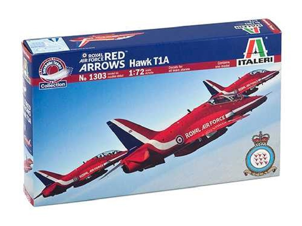 1/72 Plastikový model - lietadlo 1303 - Hawk T.Mk.1 Red Arrows
