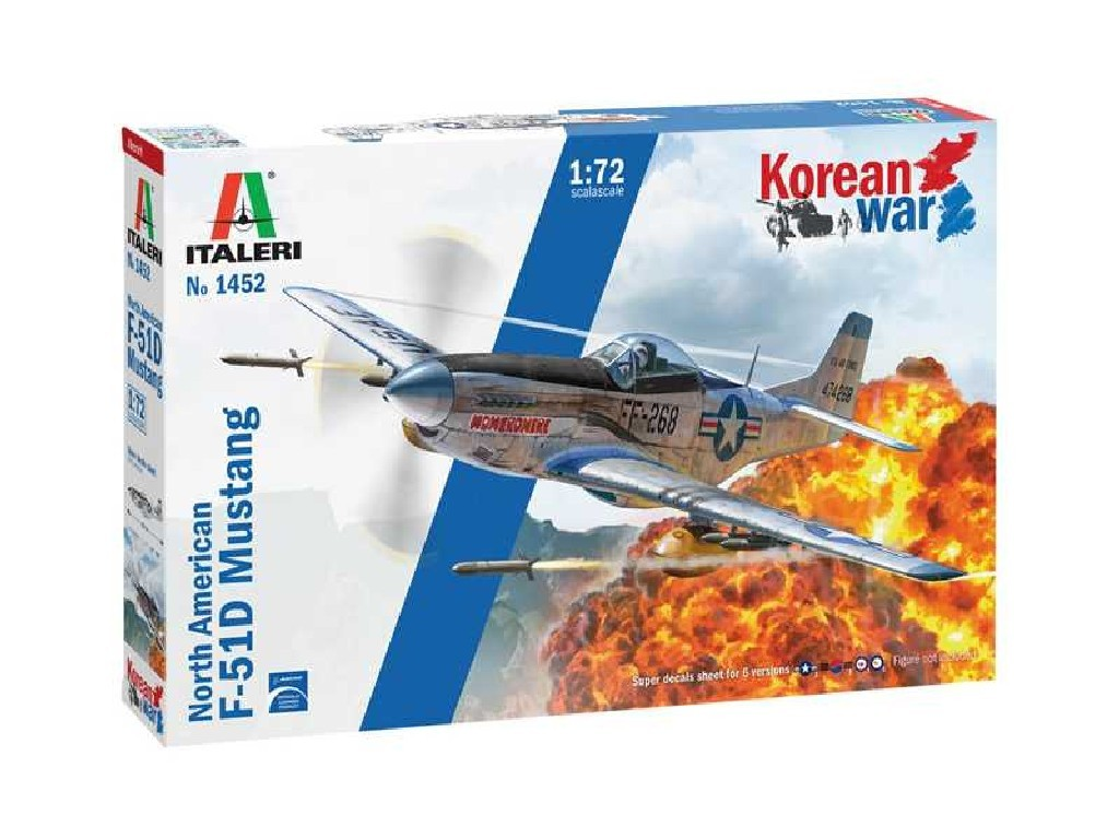 Italeri - 1452 - F-51D Korean War 1:72