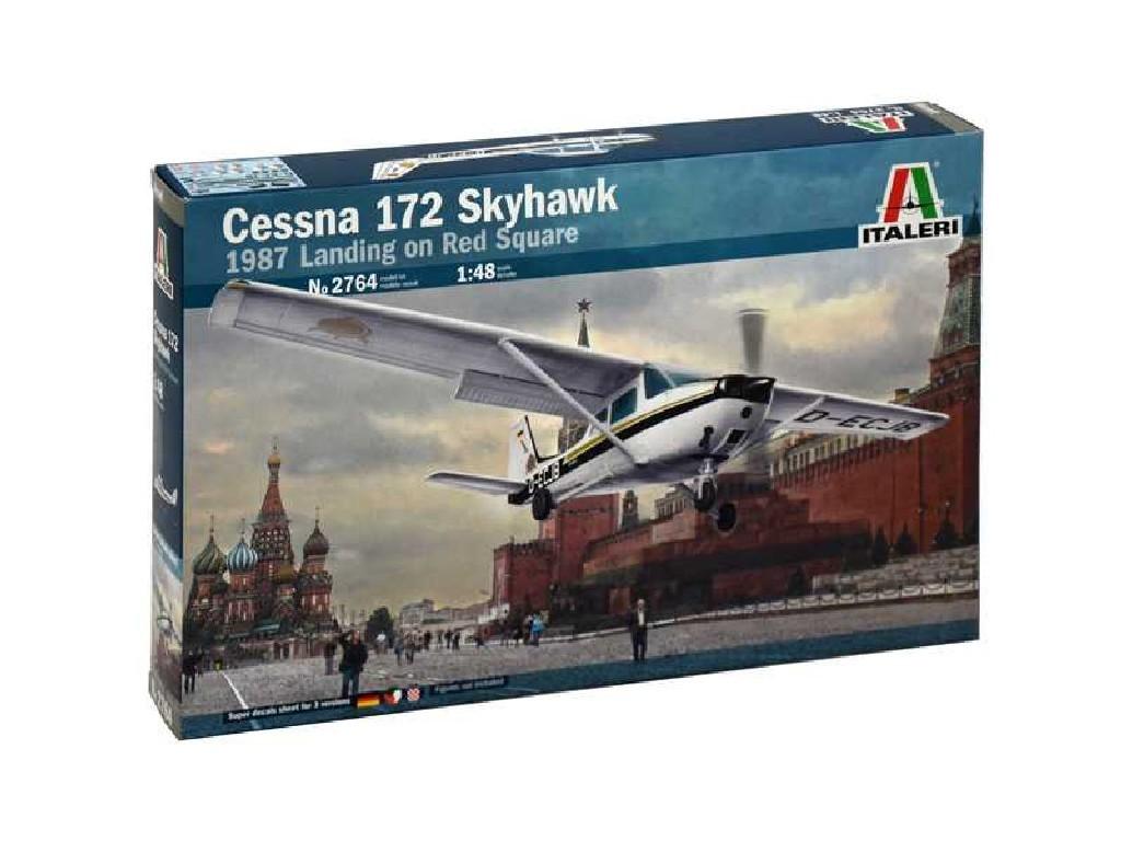1/48 Plastikový model - letadlo 2764 - CESSNA 172 SKYHAWK - 1987 Landing on Red Square