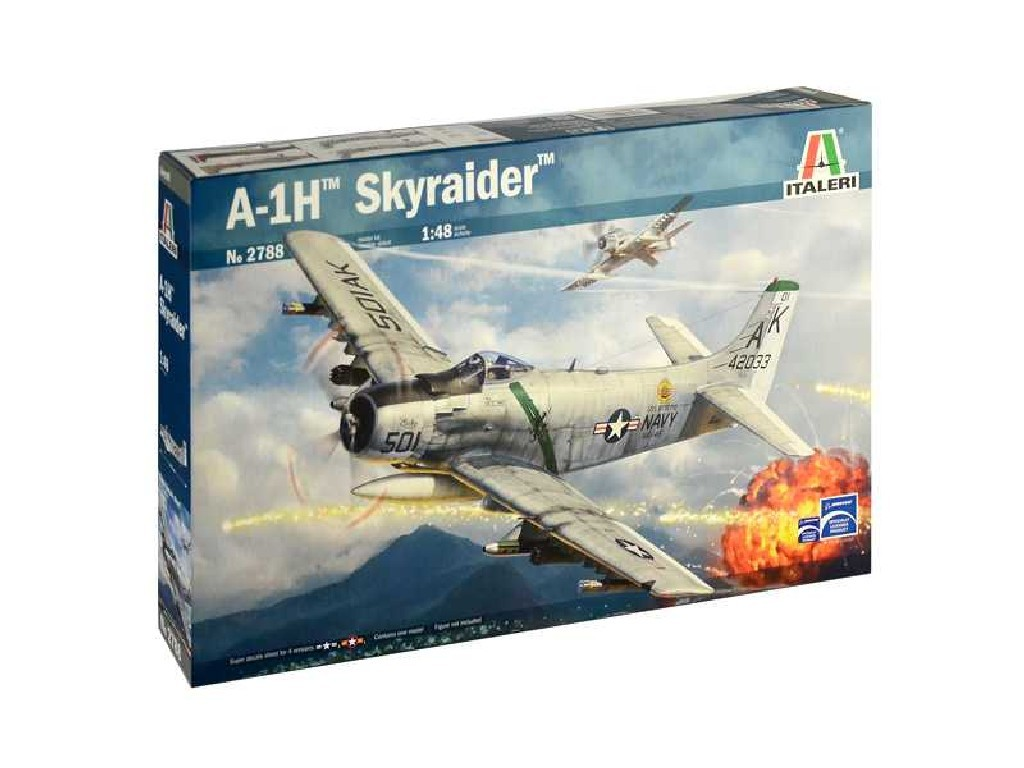 1/48 Plastikový model - lietadlo 2788 - A-1H Skyraider
