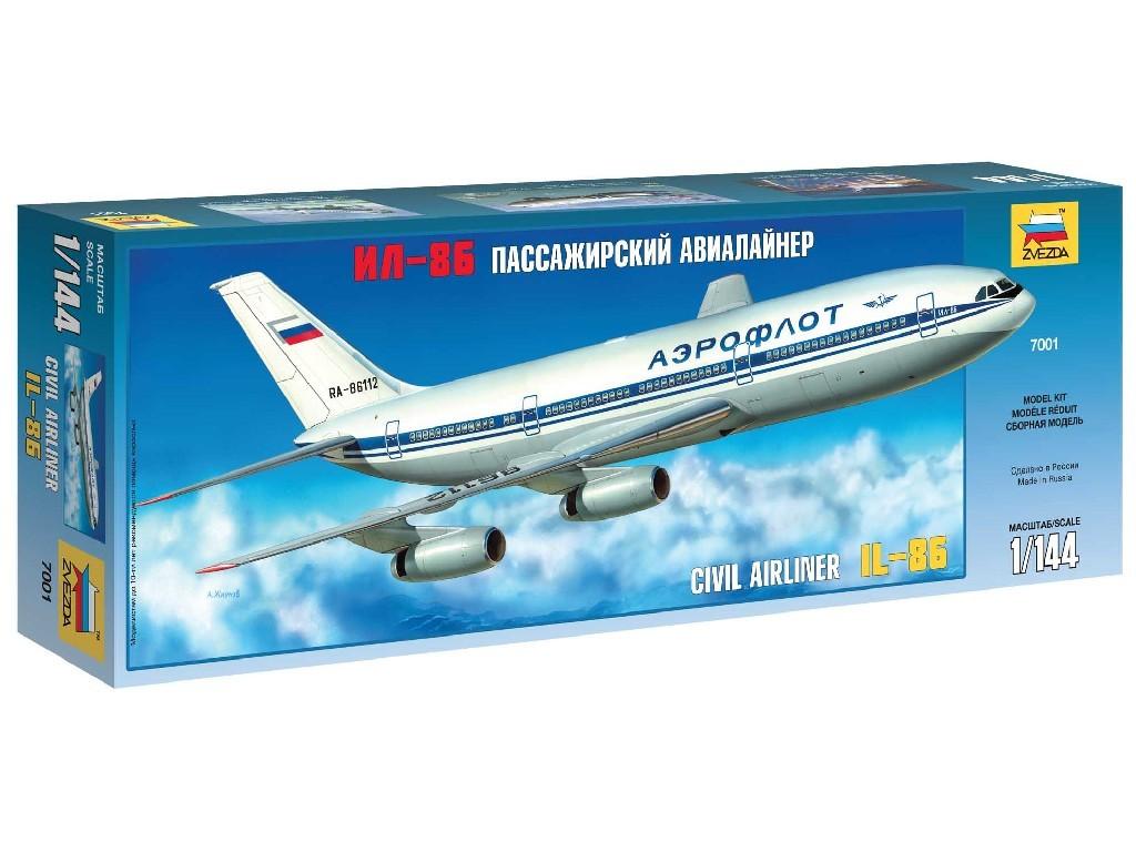 1/144 Plastikový model - letadlo 7001 - Ilyushin IL-86