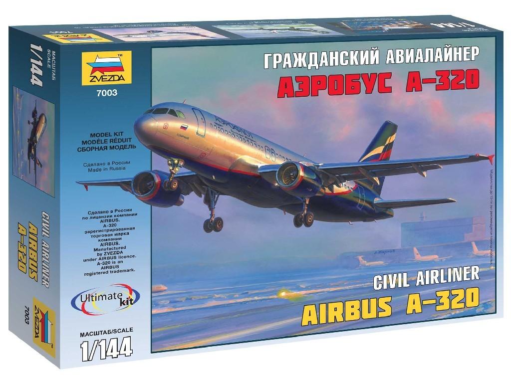 1/144 Plastikový model - letadlo 7003 - Airbus A-320