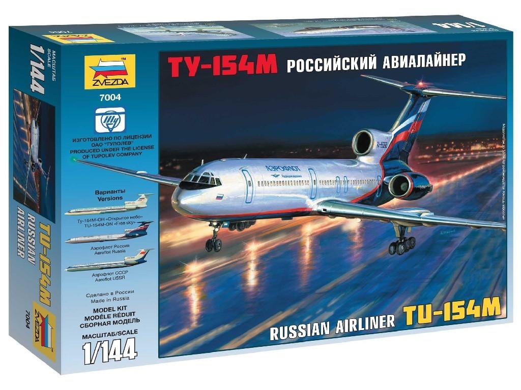 1/144 Plastikový model - letadlo 7004 - Tu-154M Russian Airliner