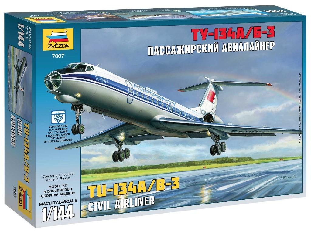 1/144 Plastikový model - letadlo 7007 - Tupolev Tu-134B
