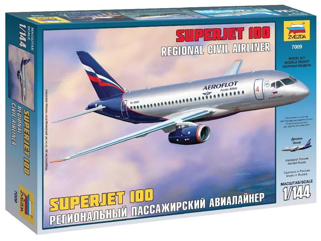 1/144 Plastikový model - letadlo 7009 - Sukhoi Superjet 100