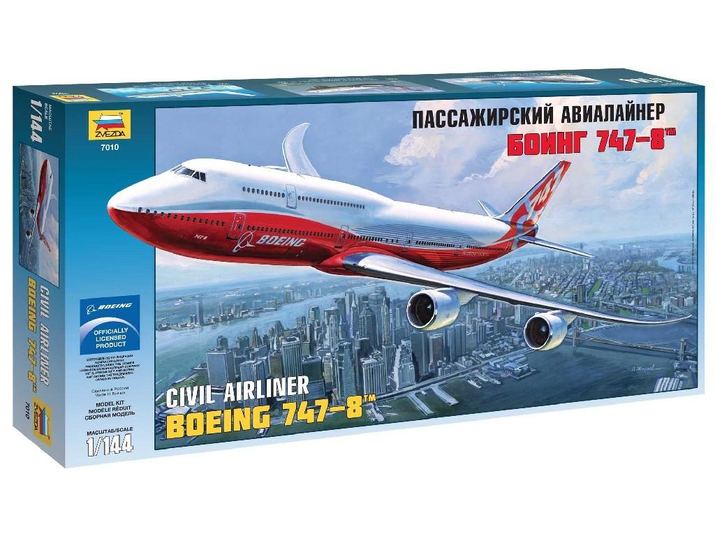1/144 Plastikový model - letadlo 7010 - Boeing 747-8