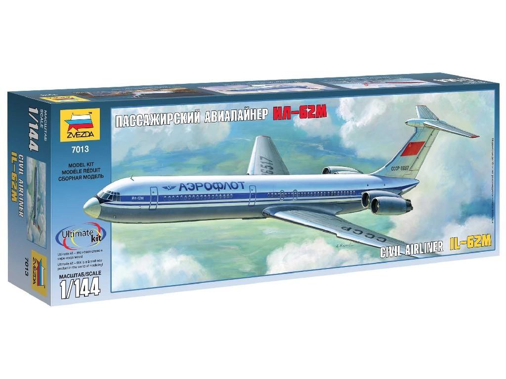1/144 Plastikový model - letadlo 7013 - Ilyushin IL-62M
