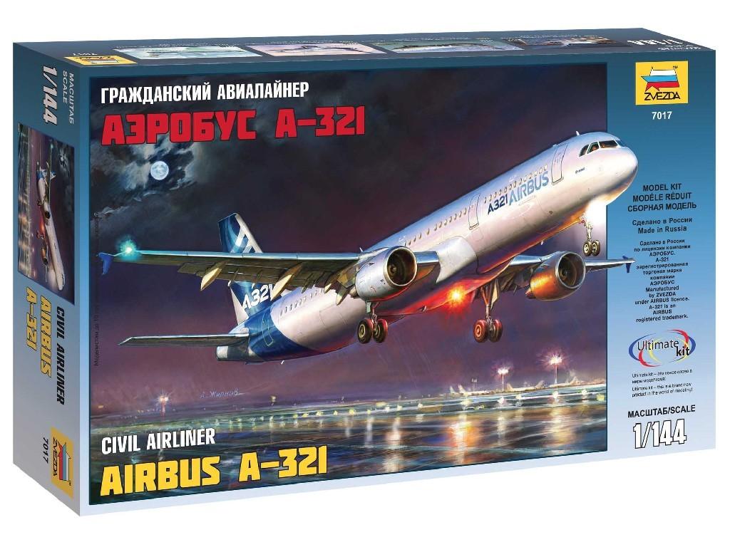 1/144 Plastikový model - letadlo 7017 - Airbus A-321