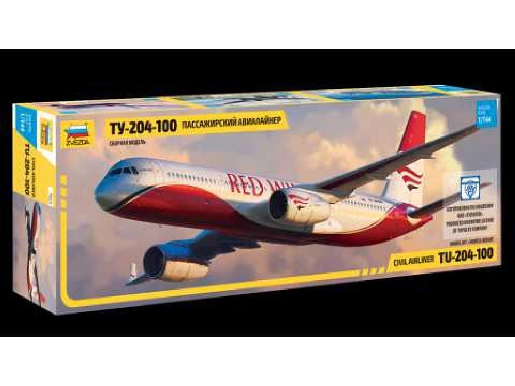 1/144 Plastikový model - letadlo 7023 - Tupolev TU - 204-100