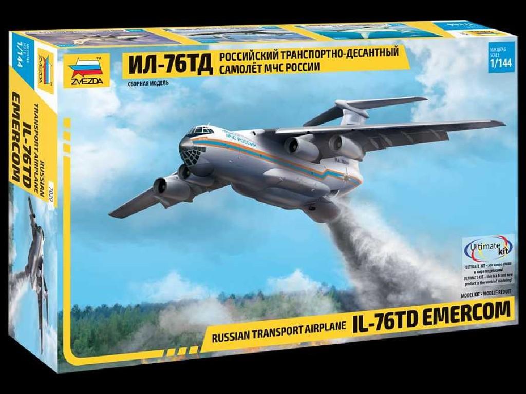 1/144 Plastikový model - letadlo 7029 - IL-76 TD EMERCOM