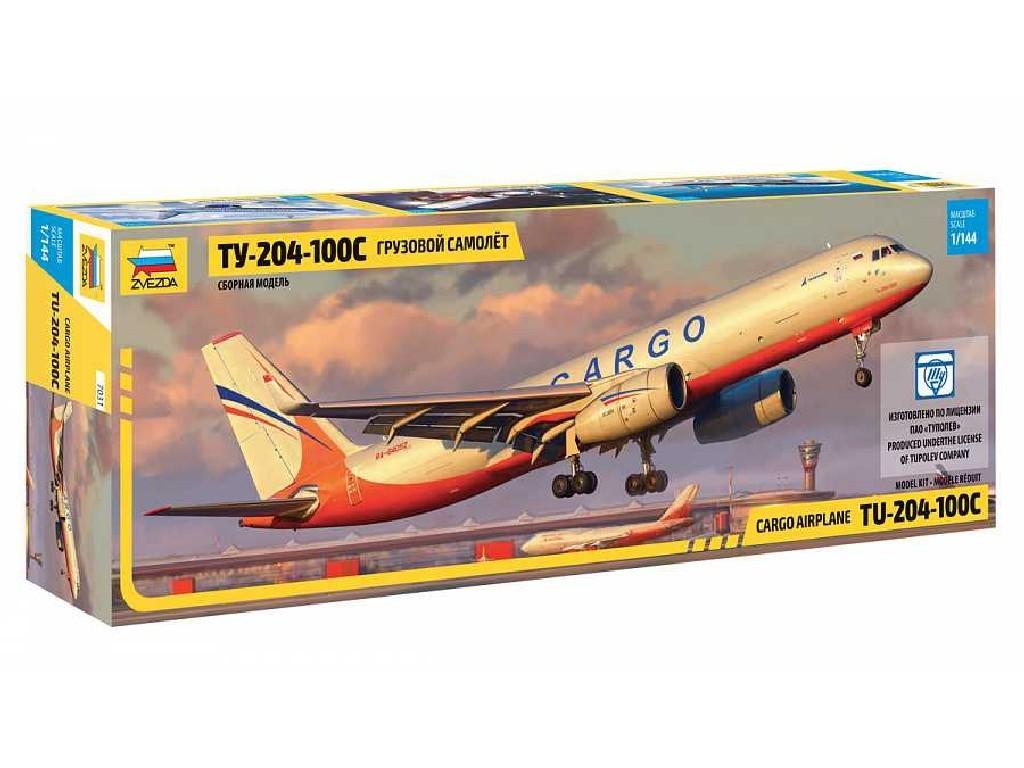 1/144 Plastikový model - letadlo 7031 - Tupolev TU 204-100 Cargo