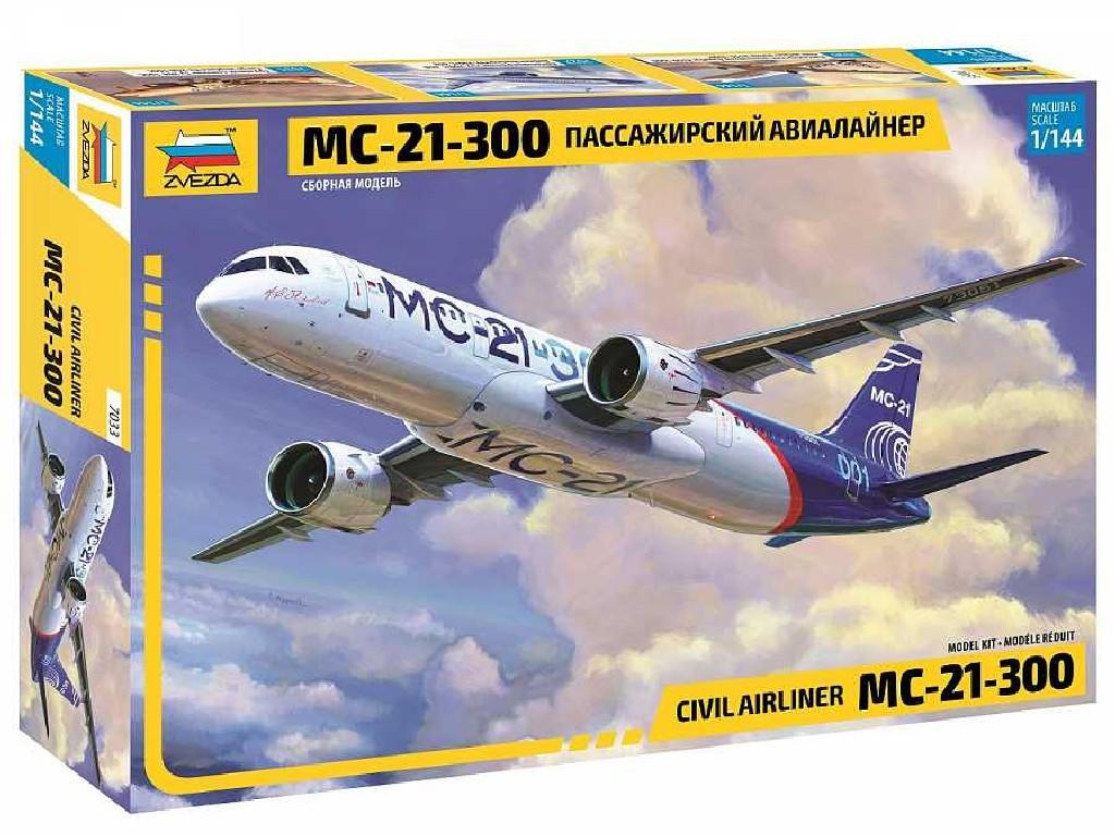 1/144 Plastikový model - letadlo 7033 - Civil Airliner MC-21-300