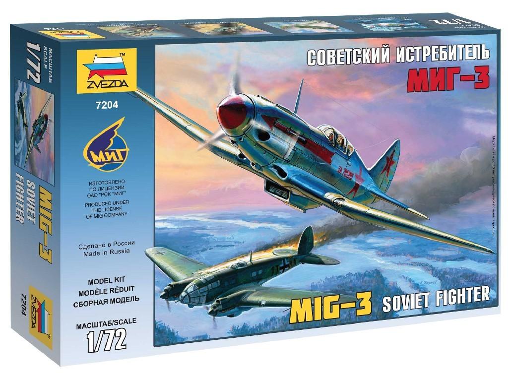 1/72 Plastikový model - lietadlo 7204 - MIG-3 Soviet Fighter