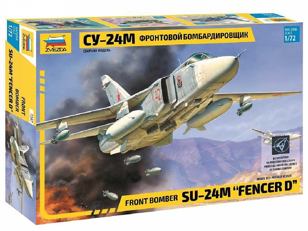 1/72 Plastikový model - letadlo 7267 - Front bomber Su-24M Fencer D