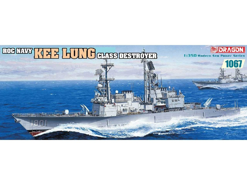 1/350 Plastikový model - loď 1067 - Roc Navy Kee Lung Class Destroyer