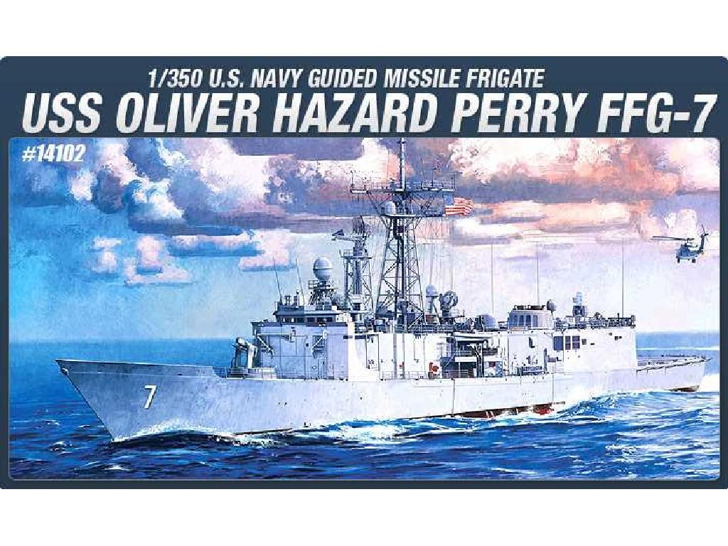 1/350 Plastikový model - loď 14102 - USS OLIVIER HAZARD PERRY FFG-7
