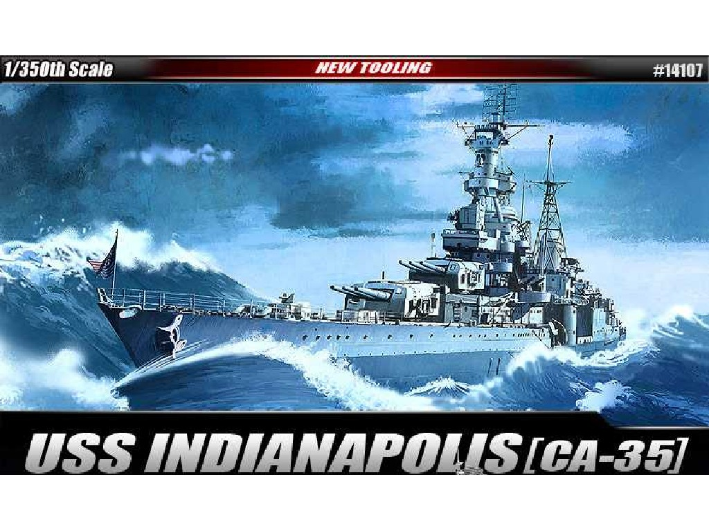 1/350 Plastikový model - loď 14107 - USS CA-35 INDIANAPOLIS