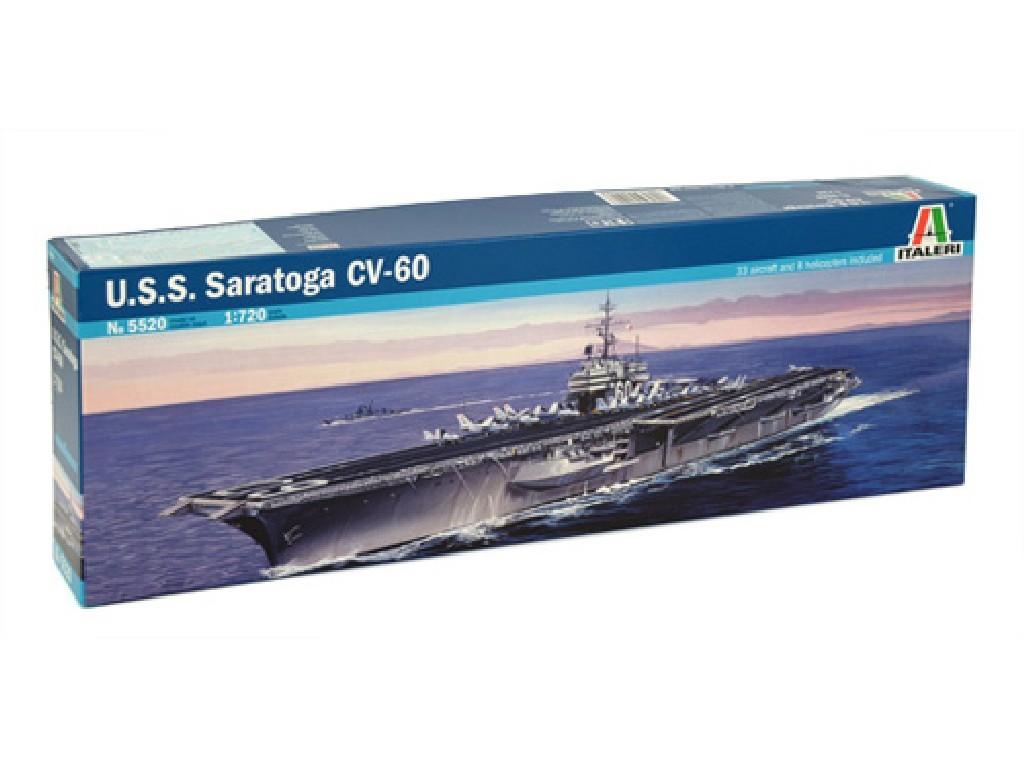 1/720 Plastikový model - loď 5520 - U.S.S. SARATOGA CV-60